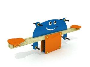 3D wood seesaw model