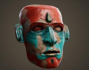 3D ancient mask