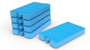 ice packs cooling 3D model