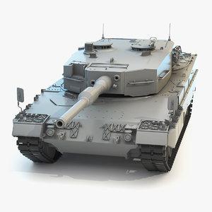 low-poly battle tank leopard 2a4 3D model