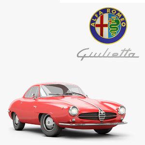 alfa romeo giulietta sprint 3D model