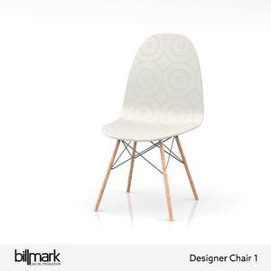 swedish designer chair furniture 3D model