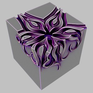 decor cube 3D