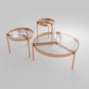 3D model table materials 2k