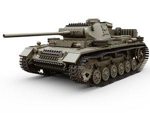 3D iii panzer tank ausf