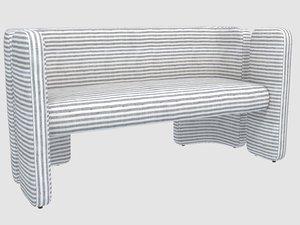 fairfax settee swift thunder 3D model