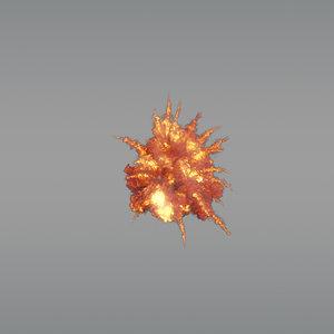 aerial explosion 02 vdb 3D