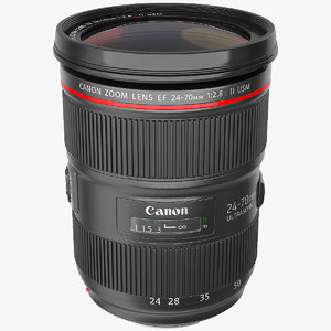 3D canon ef zoom lens model
