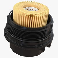 Oil Filter Housing with Filtering Element