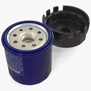 3D oil filter wrench cap model
