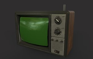 old tv normal aged 3D model