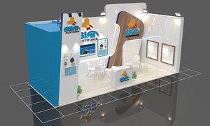 3D model exhibit stand