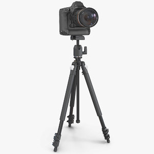 dslr camera zoom tripod 3D model