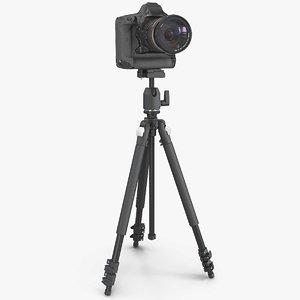 dslr camera zoom tripod 3D model