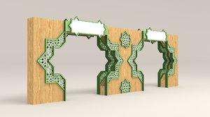 3D gate islamic ornament model