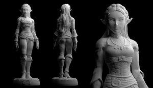 printing files 3 statue 3D model