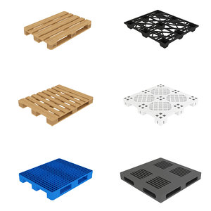 3D pallets euro plastic model