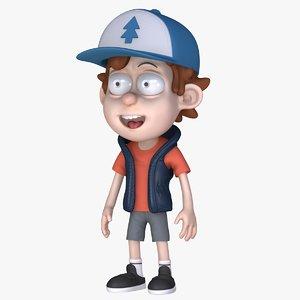 3D dipper character