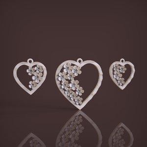 3D set heart model