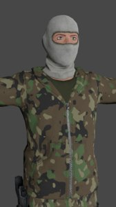 3D tactical soldier low-poly ready