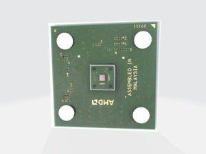 3D athlon processor model