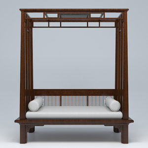 3D canopy bed model