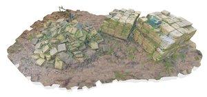 3D paving pile architectural