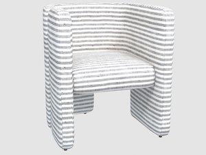 fairfax chair swift thunder 3D model