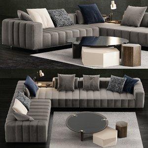 3D minotti freeman tailor sofa model