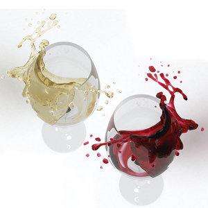 wine splash 3D