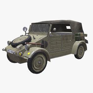 kubelwagen jeep pbr volkswagen 3D