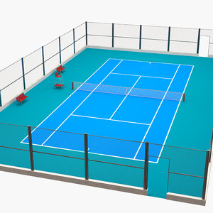 tennis arena court 3D