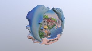 city cesenatico italy magnet 3D model