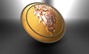 fantasy shield lion 3D model