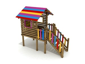 wood playhouse model