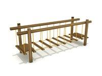 Play Equipments 12 Wood Chain Bridge