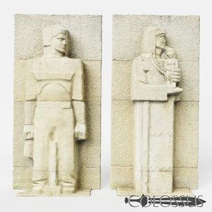 ancient statue 3D model