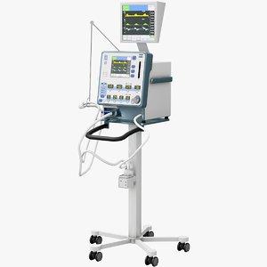3D newport e360 ventilator model