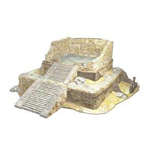 3D mayan building -