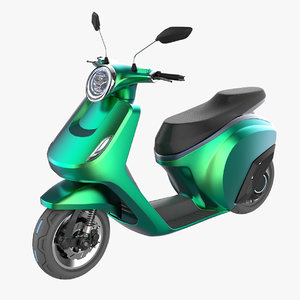 3D scooter motorcycle model