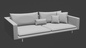 simple modern sofa 3D model