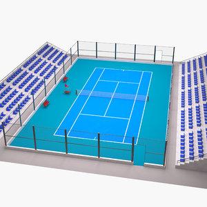 3D model tennis court outdoor