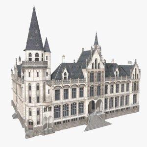 castle building 3D