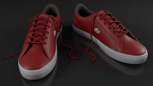 3D lacoste red shoes