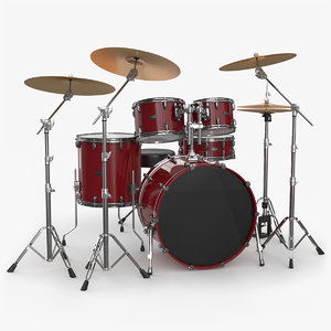3D model drum kit generic