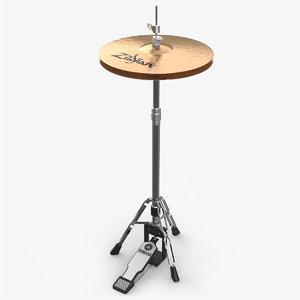 hi-hat cymbal 3D