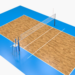 volleyball volley court model