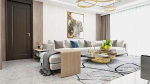3D living room modern