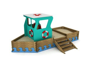 3D model wood ship play