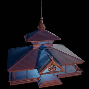 3D model kerala architecture